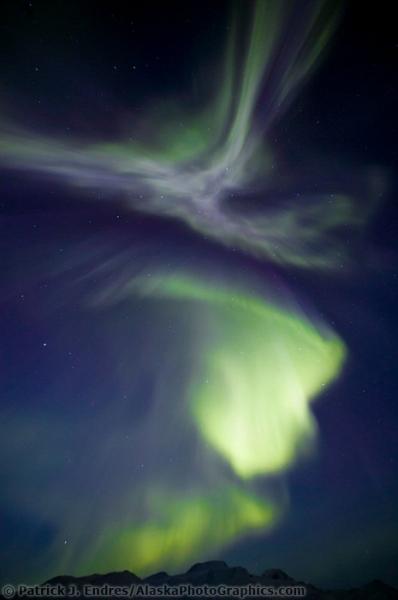 Северное сияние на фото Patrick Endres