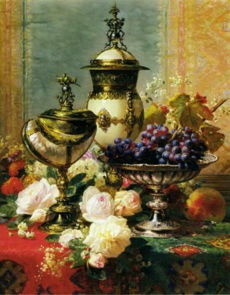 натюрморт цветы в вазе