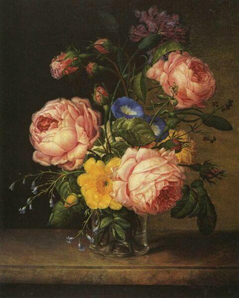 натюрморт цветочный ир роз