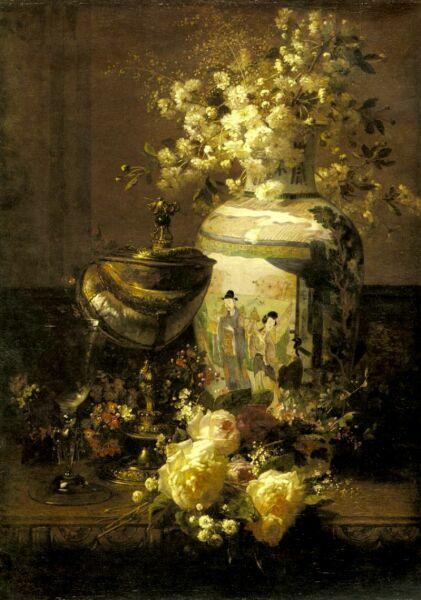 натюрморт с цветами масляными красками