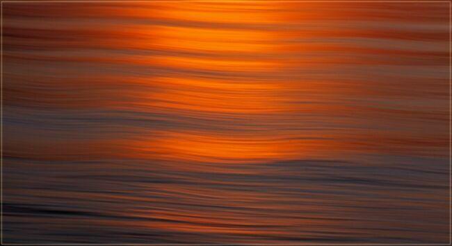 золотой пейзаж моря