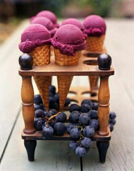 фиолетовое мороженое