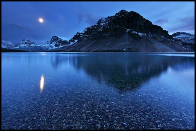 синий пейзаж тишины
