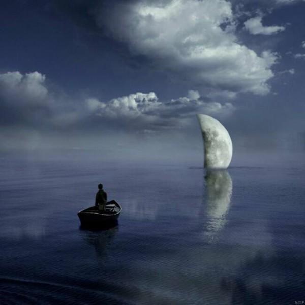 Заход луны в чудесной страна Al Magnus