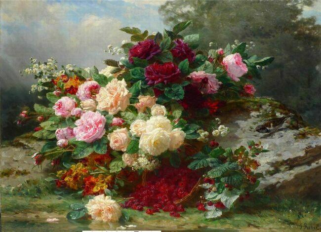 картины маслом натюрморты с цветами: nasati.ru/zhivopis-maslom-cvety.html