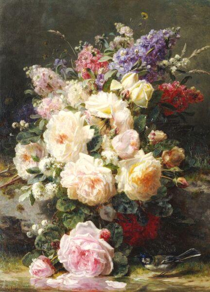 цветочный натюрморт  Jean-Baptiste Robie