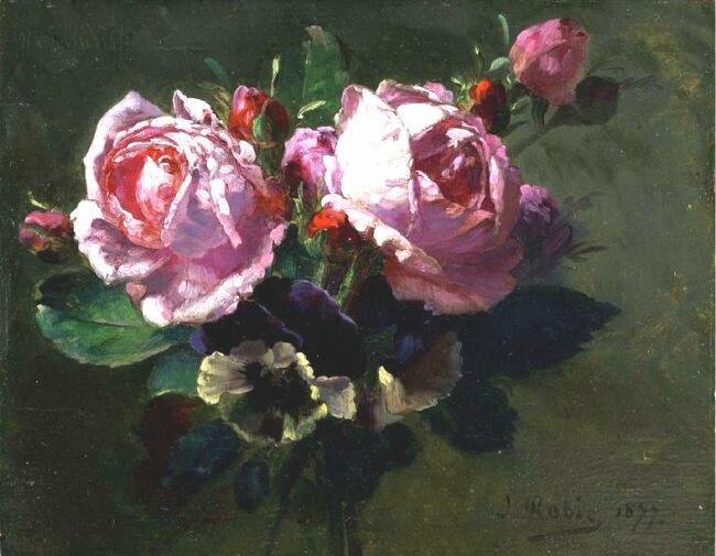 натюрморт с розами в живписи Jean-Baptiste Robie