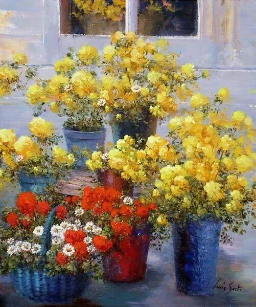 Желтые букеты в живописи