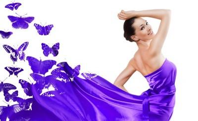 Платье из бабочек