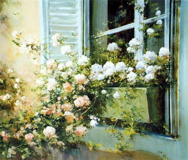 цветы в живопси