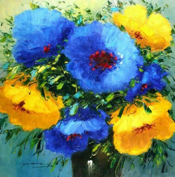 Красивый букет полевых цветов