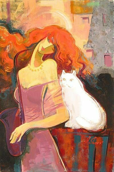 Женский образ в живописи  Irene Sheri.