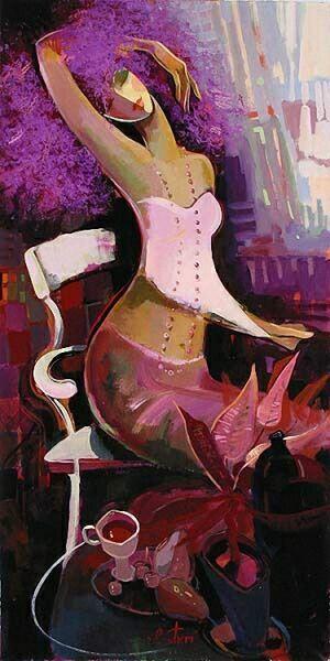 Женский образ в сиреневом от  Irene Sheri.
