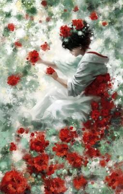 красные цветы Paul Czero