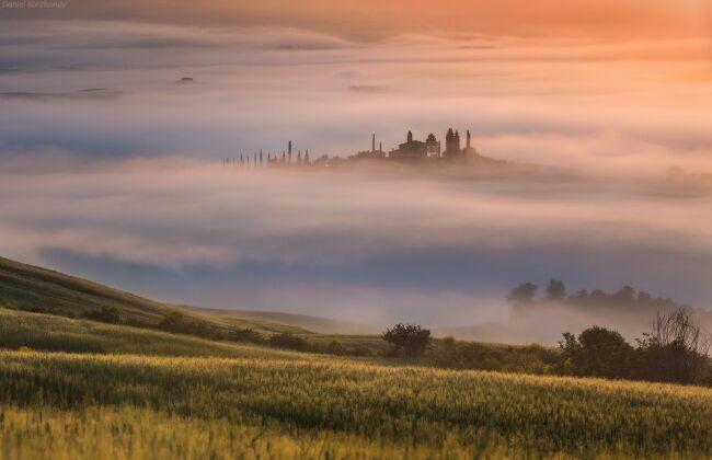 Красивые пейзажи природы Тосканы