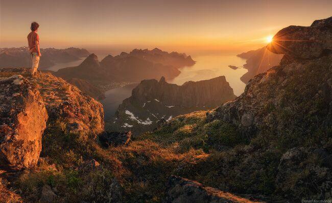 красивые пейзажи природы Норвегии