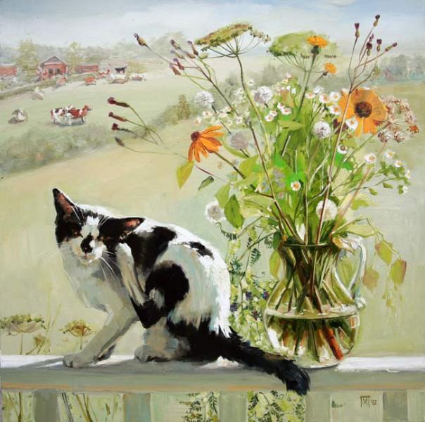 Кот в живописи Марии Павловой