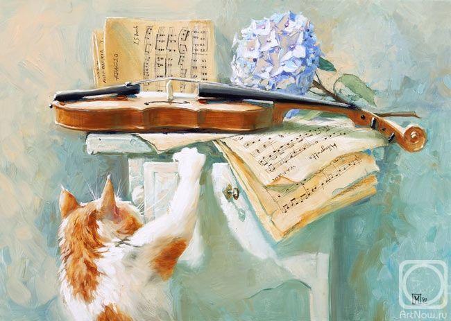 Кошки в живописи Марии Павловой