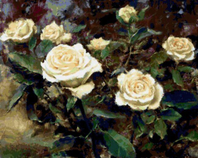 Лимонные розы в живописи