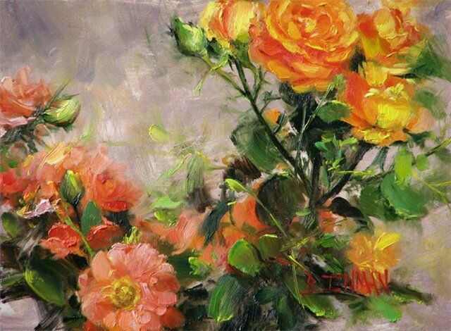 Сады роз в живописи