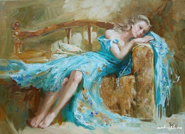 Женщины на картинах Марии Павловой