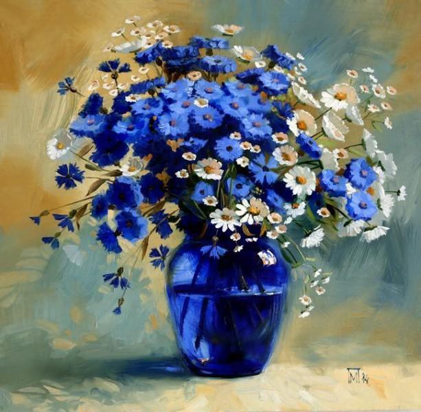 Букет цветов в живописи Марии Павловой