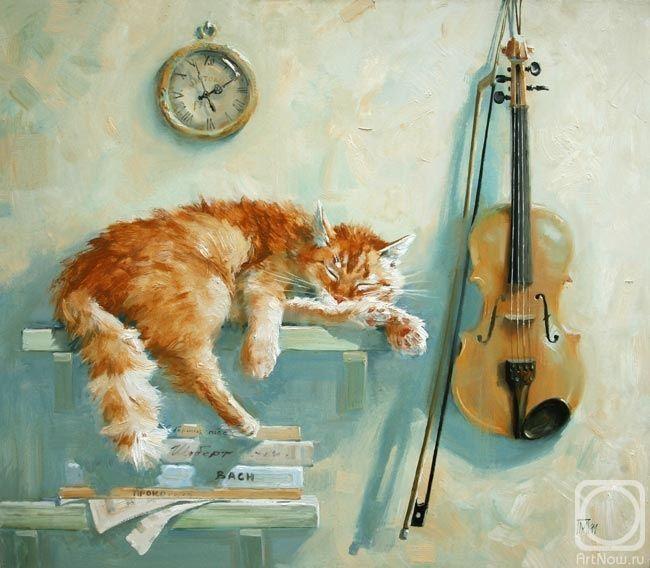 Мария Павлова и коты в живописи