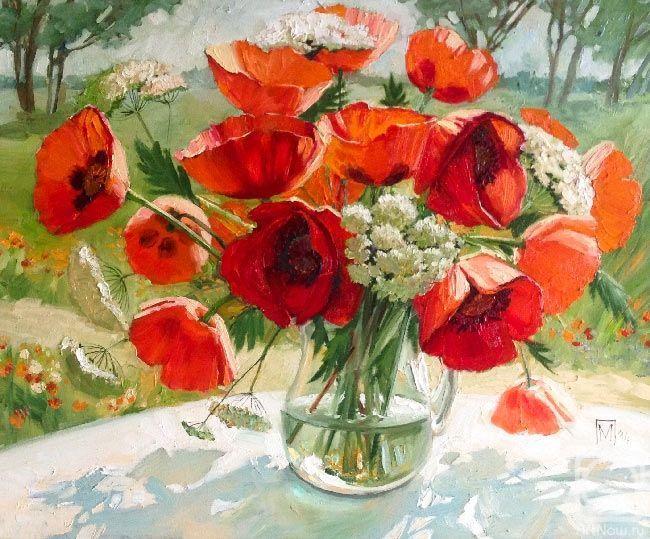 маки цветы в живописи Марии Павловой
