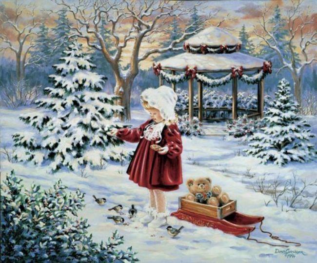 новогодние пейзажи картинки