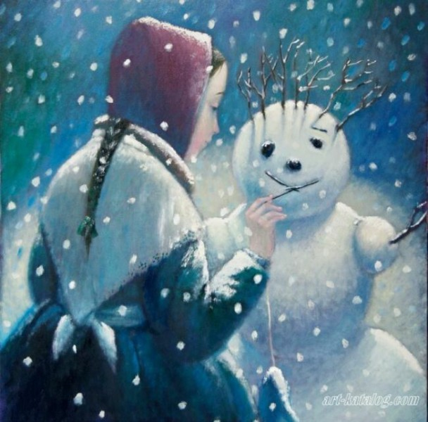 Снеговик в живописи