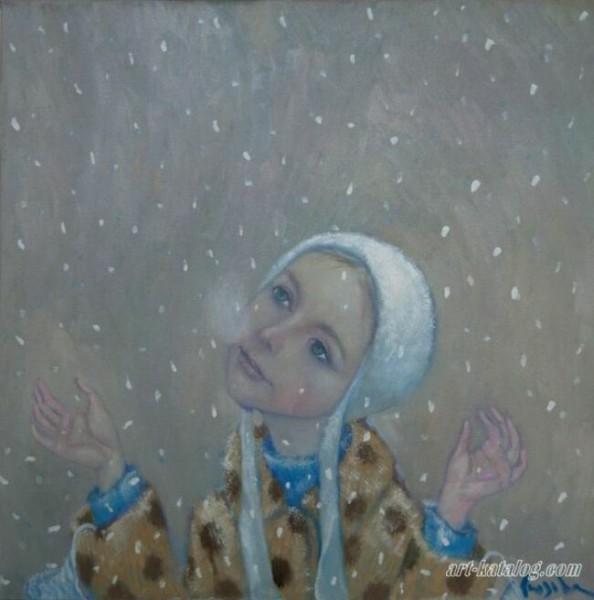 Снежные цветы в живописи