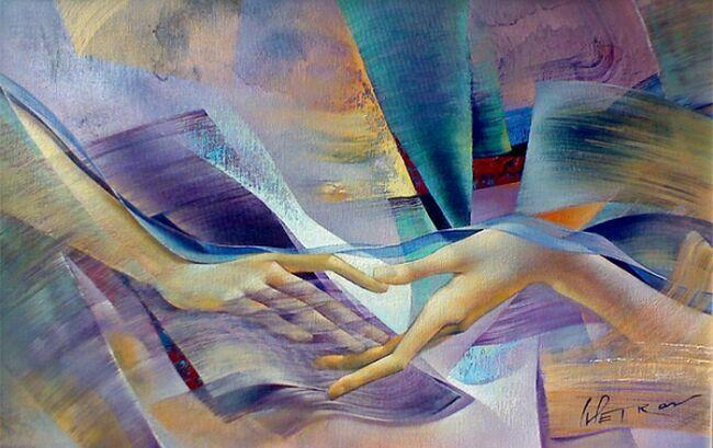 Руки на картинах болгарского художника (с)