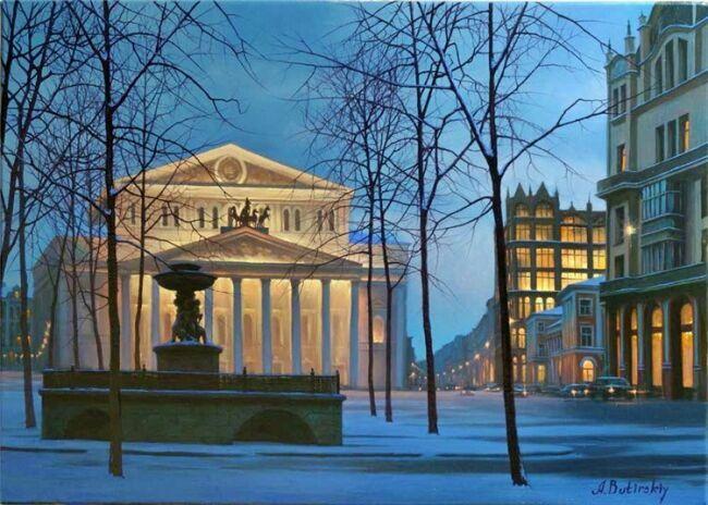 Городской пейзаж в живописи Бутырского