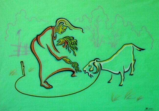 животные графика рисунки