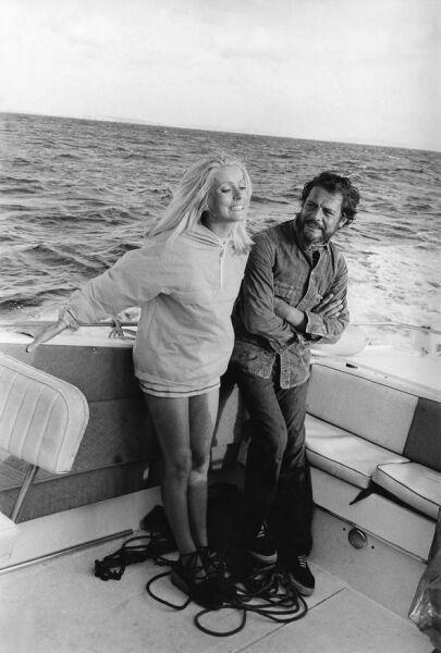 фото Марчелло Мастрояни и Катрин Денев на катере