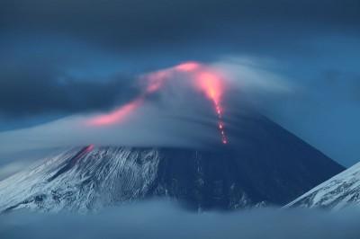 извержение Ключевской сопки