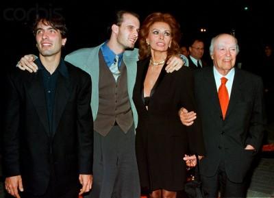 фото  Софи Лорен и ее семьи, дети Софи Лорен