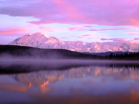 фиолетовые облака на фото