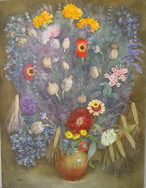Букеты цветов карандашом