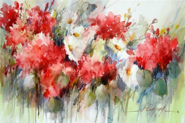 Акварель цветов