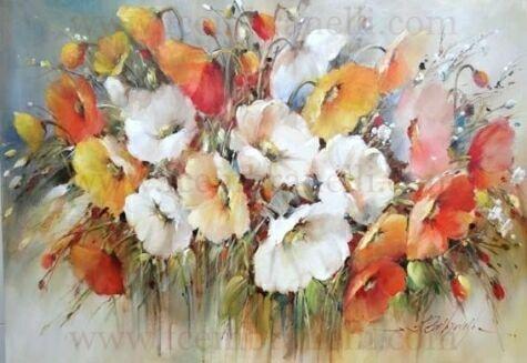 Полевые цветы, акварель