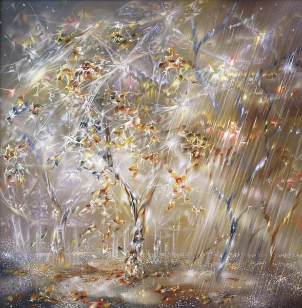 Светящиеся картины художника Александра Маранова