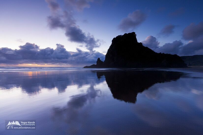 Lion rock piha north island new zealand by yegor korzh