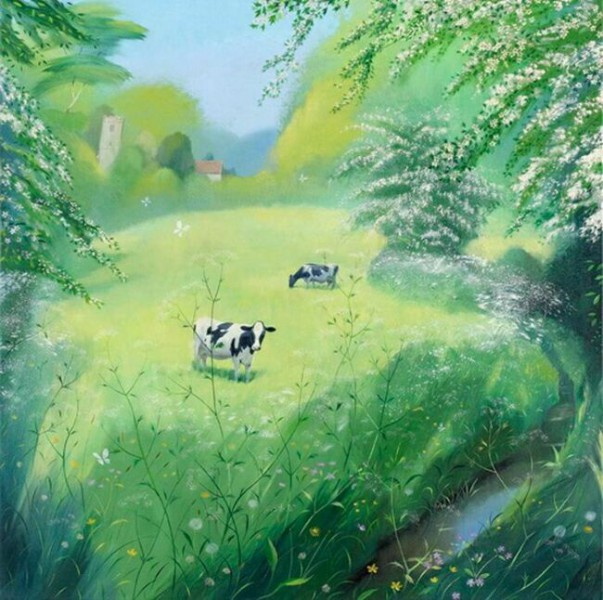 Cows in May, Nicholas Hely Hutchinson