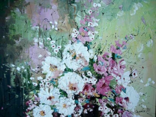 полевые цветы живопись: