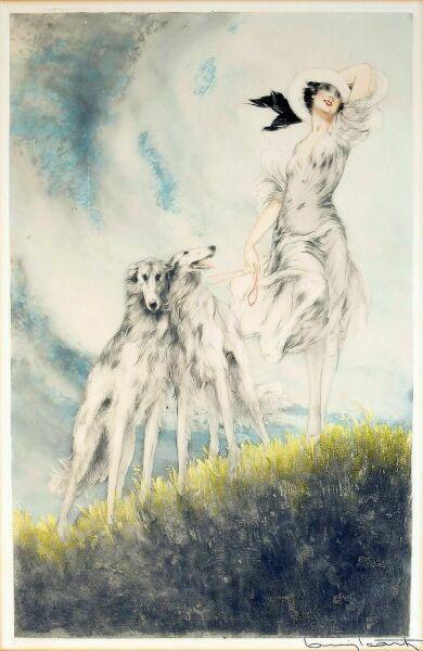 Женские образы от Louis Icart