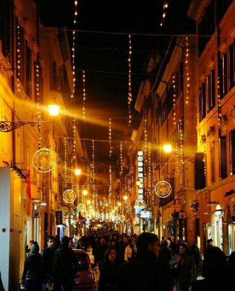 Рождественские улицы Рима