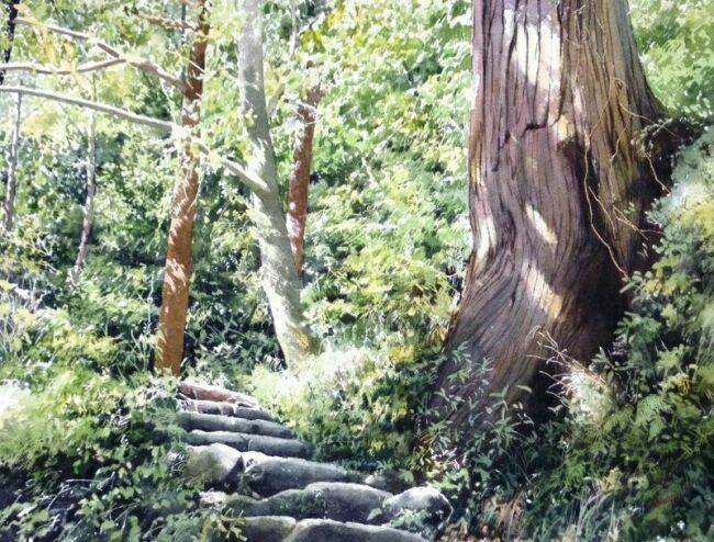 живопись акварельный пейзаж в живописи