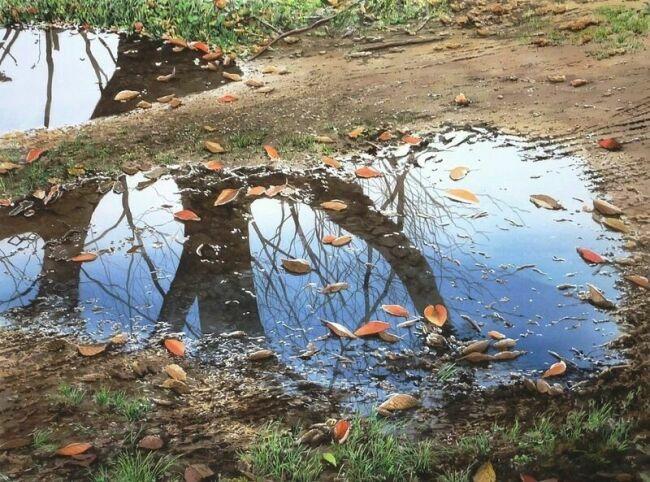 картины акварелью осенью