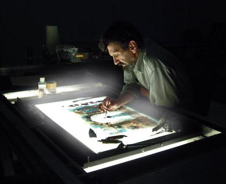Ожившая живопись Александра Петрова на рабочем столе